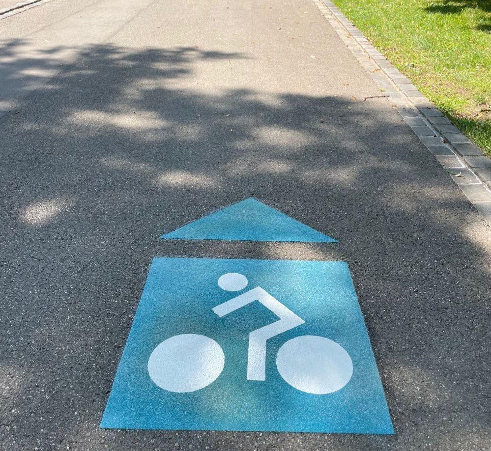 Piktogramm für Reutlingens Radrouten