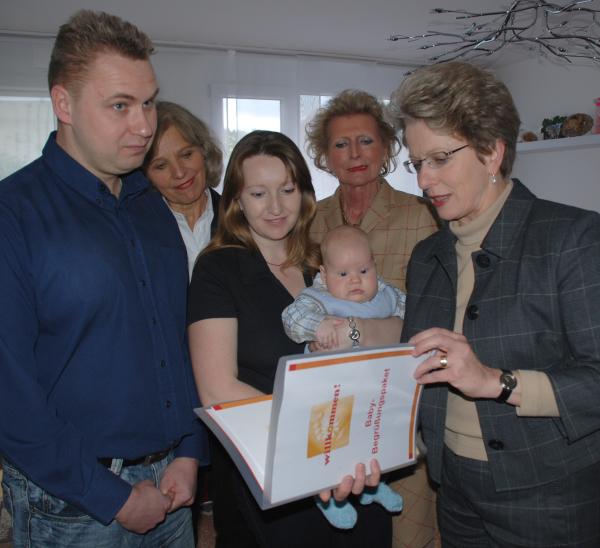 Besuch bei der frischgebackenen Familie