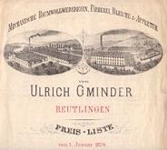 Preisliste Firma Ulrich Gminder 1879