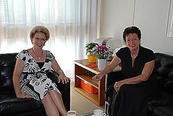 Staatssekretärin Karin Roth besucht Oberbürgermeisterin Barbara Bosch