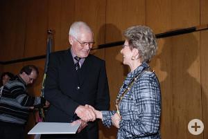 Verdienstmedaille der Stadt Reutlingen für Hans Erhard