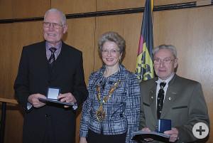 Hans Erhard, Oberbürgermeisterin Barbara Bosch und Kurt Necker